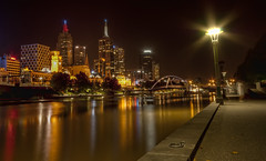 At The River (-andycarr-) Tags: longexposure river australia melbourne victoria southbank yarra hdr tthdr