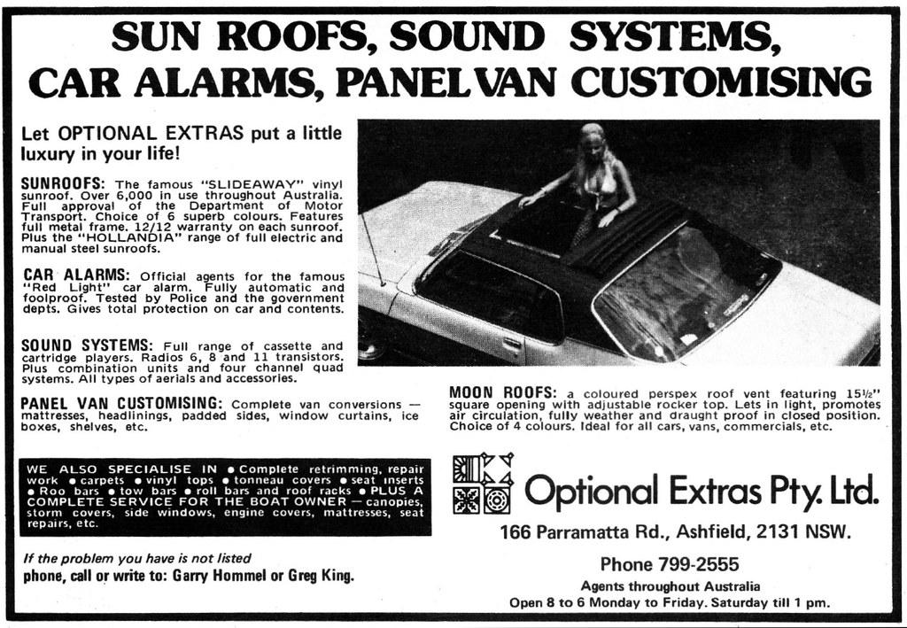 1975 Optional Extras Pty Ltd ad