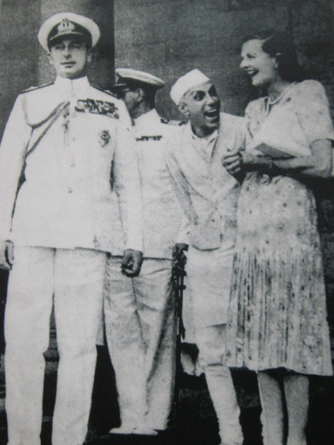 Photo of a photo: Nehru cracks up