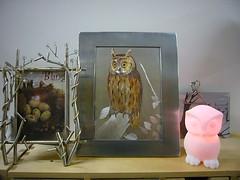 Owls Decor (Heath & the B.L.T. boys) Tags: ikea home nest egg thrift nightlight owl decorate