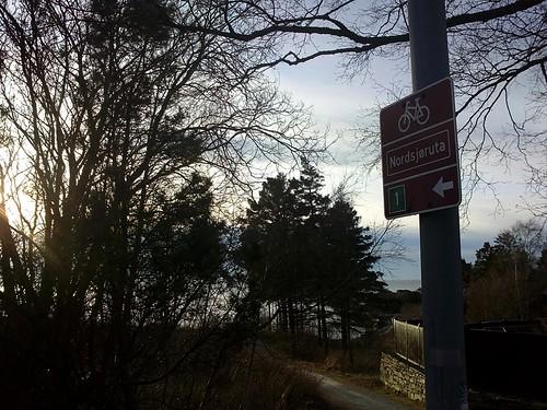 Nordsjøruta sign