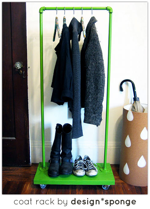 DIY coat rack by Design*Sponge