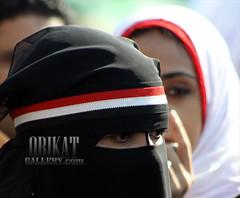 Librated Tahrir_5179_1 (maidooalex) Tags: woman veil flag egypt hijab victory celebration revolution niqab tahrir neqab