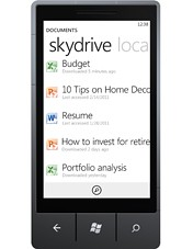 Windows Phone 7 -Skydrive