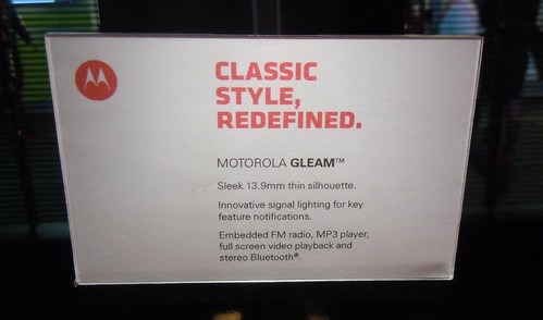 Motorola GLEAM specifications