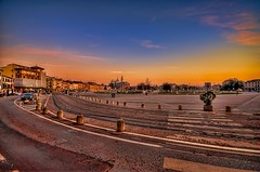 Padova- Prato della Valle sunset (Uros P.hotography) Tags: park street old trip travel bridge italy tourism church beautiful museum photoshop wonderful river square town canal nice fantastic ancient nikon perfect theater italia tour cathedral superb roman basilica awesome sigma valle palace tourist monastery journey stunning excellent walls jews lovely della incredible picturesque 1020 ghetto prato hdr breathtaking biggest brenta padova topaz turism padua veneto d300 turist photomatix denoise bacchiglione brathtaking slod300