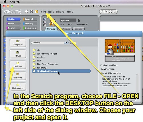 Open a Scratch Project from the Desktop