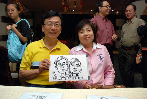 caricature live sketching for OCBC Securities - 6a