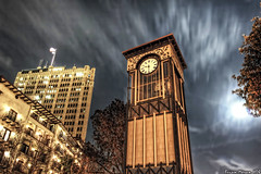 Save the Clock Tower (BrianMoranHDR) Tags: moon clock night sanantonio clouds texas clocktower dxo hdr riverwalk photomatixpro denoise colorefexpro topazlabs canon60d niksoftware viveza canon1635mmf28liiusm silverefexpro adobephotoshopcs5extended opticspro6