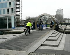 20 February 2011 Helix Bridge over Grand Union Canal at Paddington Basin (Kingston Cycling Campaign) Tags: bridge bike canal cyclist union grand basin paddington helix kingstoncyclingcampaign