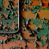 .. (ICT_photo) Tags: orange ontario brick green abandoned lines wall neglect paint pattern peel brantford masseyferguson ictphoto ianthomasguelphontario