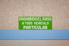 We No Speak Americano (Jussi V) Tags: morning travel blue winter espaa brown white building bus green wall spain beige europe object transportation tenerife february canaryislands busstation islascanarias adeje playadelasamricas estciondeguaguas