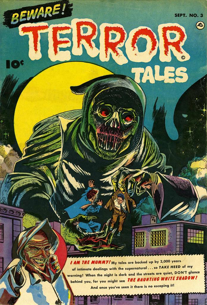 Beware Terror Tales #3 Bernard Bailey Cover (Fawcett, 1952)