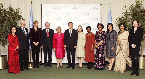Dignitaries gather to celebrate the launch of UN Women