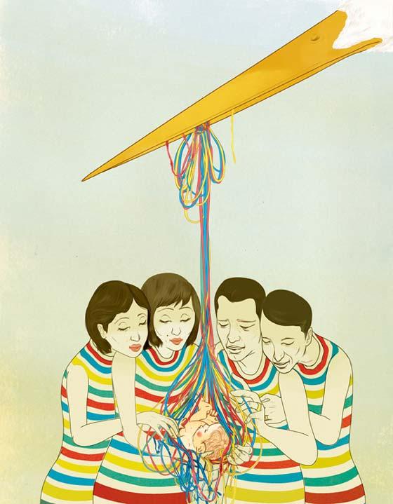 ilustraciones con temas oriental