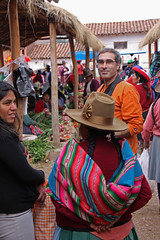 trying to mesh with the locals... (daniel.virella) Tags: people me colours market cusco hats eu per andes sacredvalley chinchero quechua vallesagrado orande byz