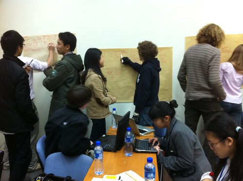 during the 3 days of the conference. The students develop a solution to