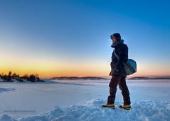 Freezing View (mortenprom) Tags: ocean winter portrait selfportrait snow man ice water oslo norway fur norge big boots skandinavien norwegen human jacket noruega scandinavia oslofjord malmya noorwegen noreg skandinavia 2011 canon2470f28l canoneos5dmarkii mortenprom