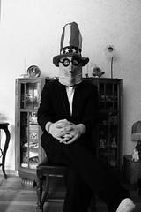 Relaxed (Snake Oil Magazine) Tags: portrait blackandwhite art halloween america photography costume scary mask photos pics evil american horror gargantuen