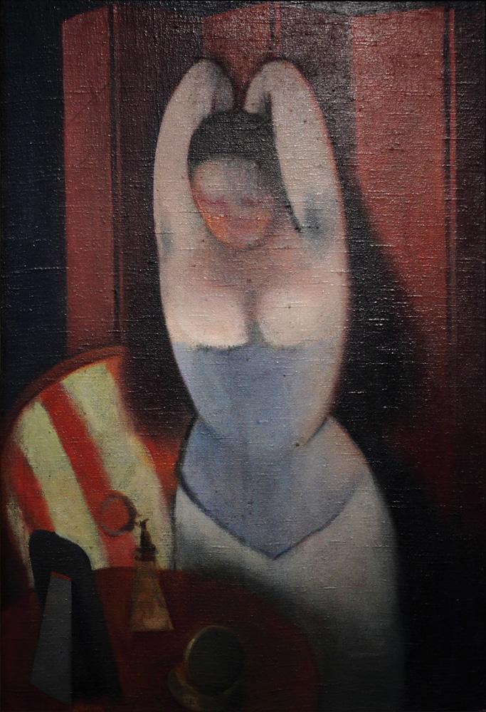 Rudolf Kremlička, Česající se žena [Woman combing her hair], 1923