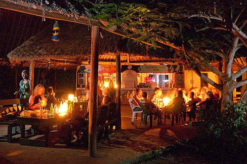 Candlelit dinner in Dar es Salaam