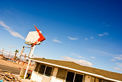 (TheRealMichaelMoore) Tags: california sky abandoned sign clouds route66 desert motel sage mojave needles vacancy 2011 felizmojavedad