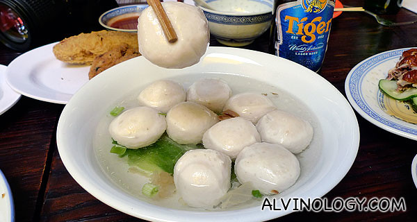 Giant tangy fishballs