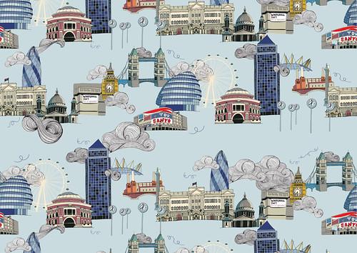 London Landmarks Pattern