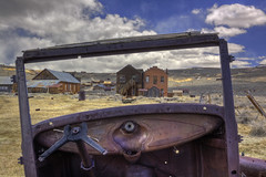Front Seat View of Bodie (scraplyn2) Tags: california car rust explore ghosttown bodie sierras eastern