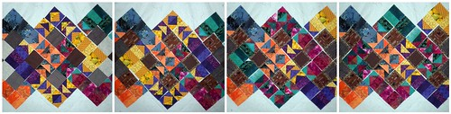 Playing with the block layout for the Project QUILTING Flying Geese challenge