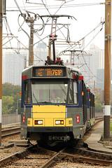 "Comeng LRT Unit, Phase 1 ""1001""  MTR Corporation, Ping Shan, Hong Kong (Daryl Chapman Photography) Tags: train canon hongkong nt tram sigma 7d lrt 1001 mtr yuenlong tinshuiwai comeng 1770mm"