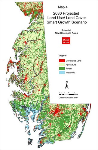 projected development with better land use (by: MD Dept of Planning)