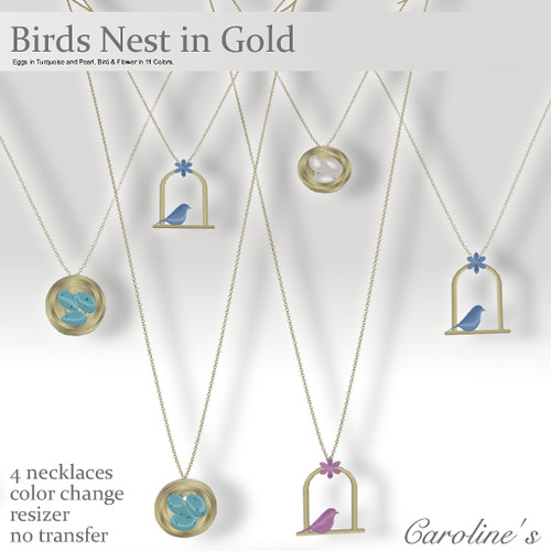 Caroline's Jewelry Birds Nest in Gold