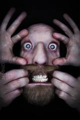 72/365 - all fingers and thumbs (possessed2fisheye) Tags: beard eyes finger teeth fisheye 365 ohmygod gruesome ringlight wierdo creativeselfpo