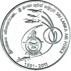 2011 - Sri Lanka - 2 Rupee obverse
