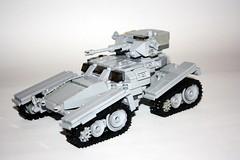 Marauder T-ATTV forward overview (Babalas Shipyards) Tags: scale track tank lego quad vehicle minifig futuristic armoured
