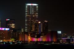 Light the Night in Colors (wenzday01) Tags: city travel urban hk color skyline night hongkong lights nikon clocktower nikkor 香港 kowloon victoriaharbour d90 hongkongculturalcentre nikond90 18105mmf3556gedafsvrdx