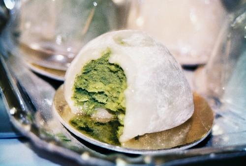 Supermoshi de té verde