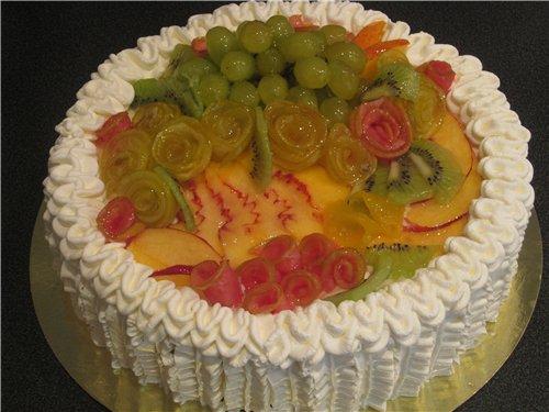 Мастер класс украшение из фруктов для торта 102