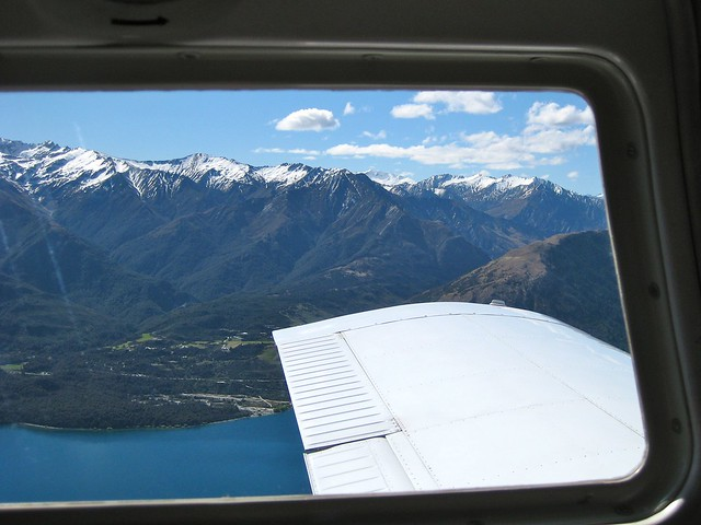 Flying Over Lake Wakatipu, Queenstown, New Zealand
