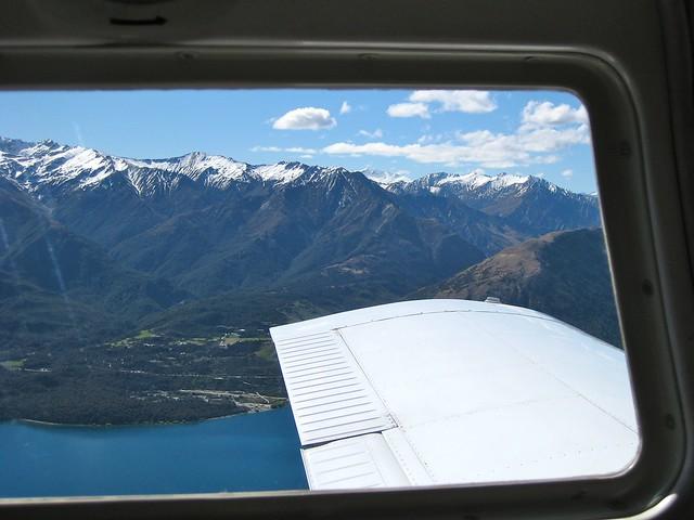 Flying Over Lake Wakatipu, Queenstown, New Zealand