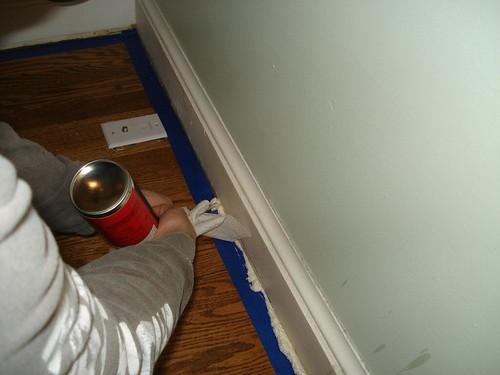 foaming under baseboard