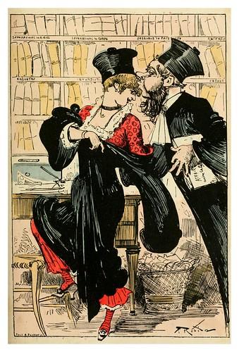 012-La señorita Billy se convierte en abogado-La grande mascarade parisienne 1881-84-Albert Robida