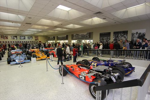 67 Indy 500 winning cars on display for the public to view at the Hall of Fame Museum