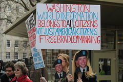 London, UK Rally for Bradley Manning on 20 March, 2011
