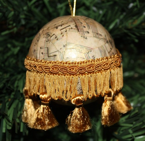 Vintage Music Ornament