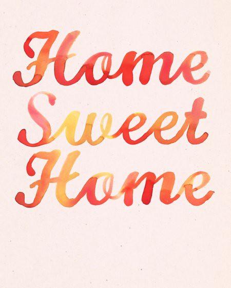Home Sweet Home print by Samantha Hahn