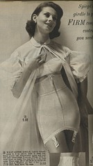 Spiegel 1963 waist-nipper girdle (genibee) Tags: woman fashion vintage costume control underwear robe spiegel catalog 1960s nylon sixties 1963 girdle
