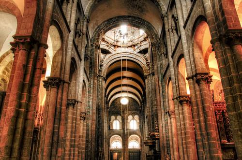 Cathedral inside. Santiago de Compostela. Interior de la catedral