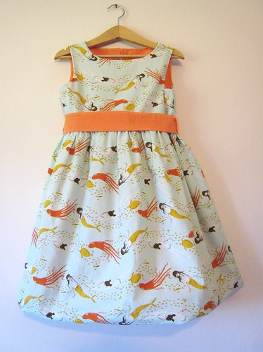 mermaid party frock front